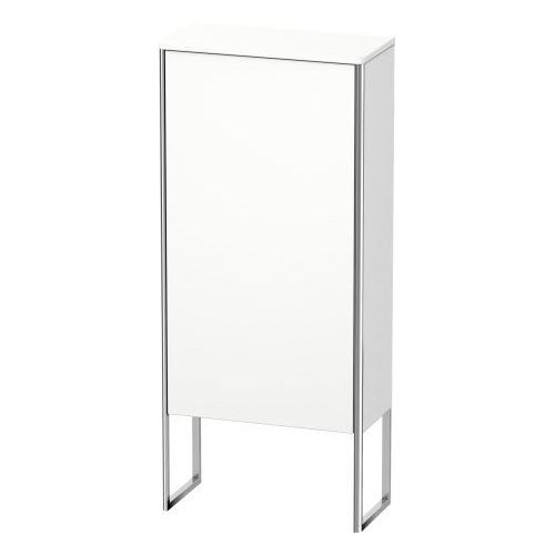 Semi-tall Cabinet Floorstanding, White Matte
