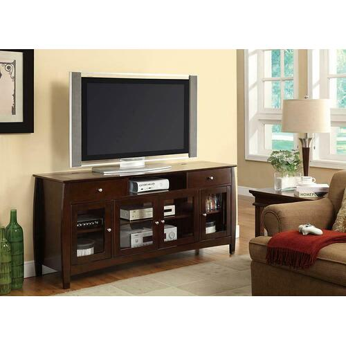 Product Image - Casual Walnut TV Console With Connect-it Power Drawer