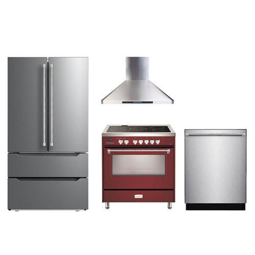 "Burgundy 36"" Designer Electric Range"