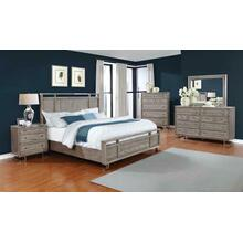 See Details - The Johnathan Bedroom Industrial Shell Queen Four-piece Set