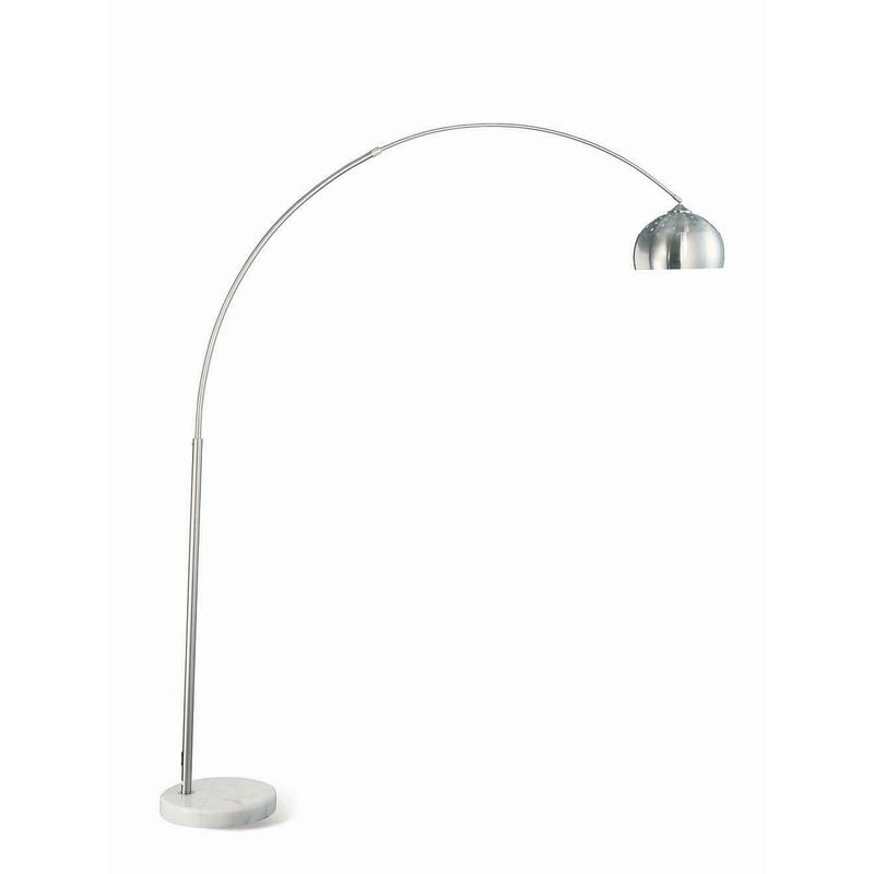 View Product - Contemporary Chrome Floor Lamp
