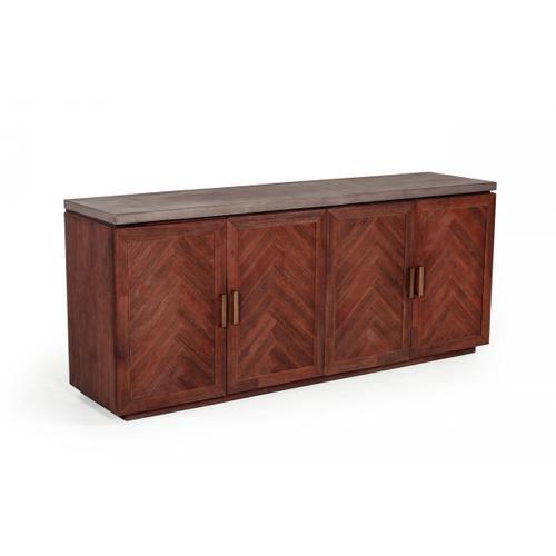 VIG Furniture - Modrest Amos Modern Concrete & Acacia Buffet
