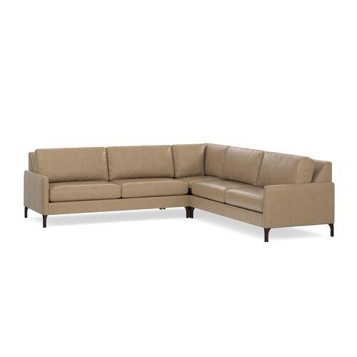 Serafina Leather L-Shaped Sectional