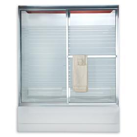 "Prestige Framed Sliding Shower Doors, 68"" - Nickel"