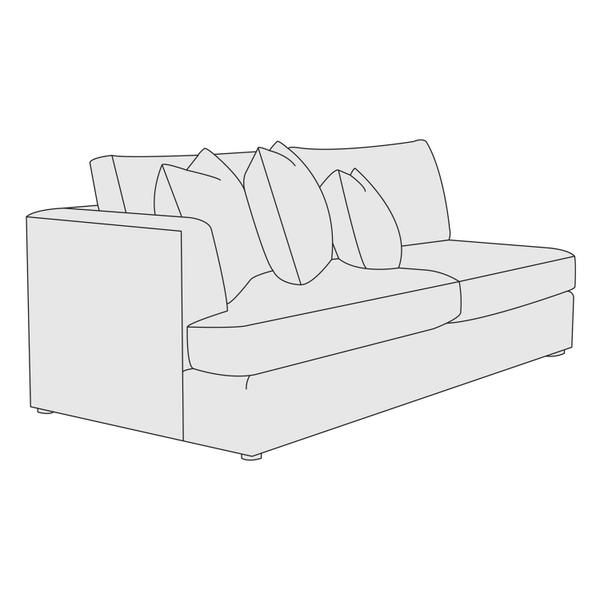 Sydney Left Arm Loveseat