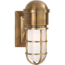 E. F. Chapman Marine 1 Light 5 inch Hand-Rubbed Antique Brass Bath Wall Light