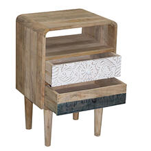 Nightstand/Chairside Table - Mango Fun Finish