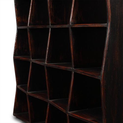"Library 89"" Bookshelf Antique Black"