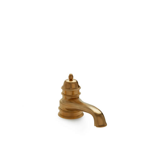 Polished Brass Grey Deck Mount Tub Spout