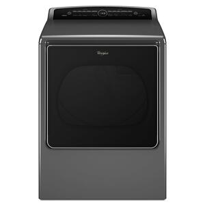 Whirlpool8.8 cu.ft Top Load HE Gas Dryer with Intuitive Touch Controls, Steam Refresh Chrome Shadow