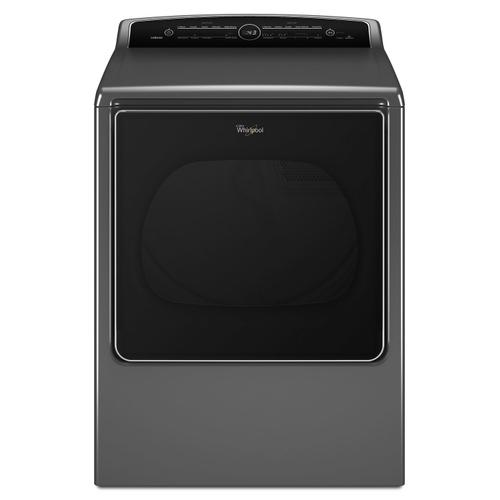 Whirlpool - 8.8 cu.ft Top Load HE Gas Dryer with Intuitive Touch Controls, Steam Refresh Chrome Shadow