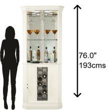 690-046 Piedmont V Corner Wine & Bar Cabinet
