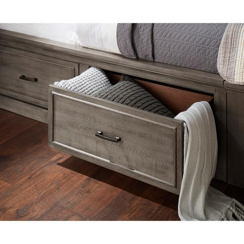 Chatham Park Queen / King Panel Bed Storage Rails in Warm gray