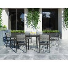See Details - Renava Marina - Grey Outdoor Dining Table Set