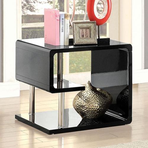 Furniture of America - Ninove End Table, Black