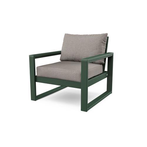 Green & Weathered Tweed EDGE Club Chair