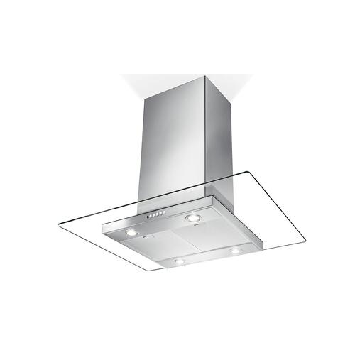 "36"" glass island hood with Variable Air Management"
