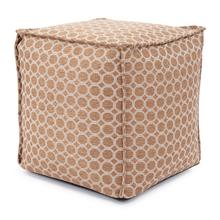 See Details - Square Pouf Pyth Gold