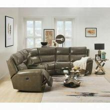 ACME Lonna Sectional Sofa (Power Motion) - 54600 - Taupe Leather-Gel