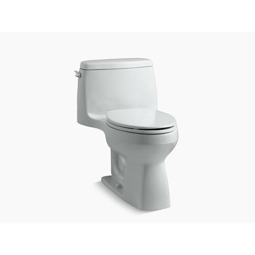 Ice Grey One-piece Compact Elongated 1.28 Gpf Chair Height Toilet With Quiet-close Seat