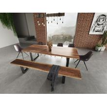 View Product - Modrest Taylor - Large Modern Live Edge Wood Large Dining Bench