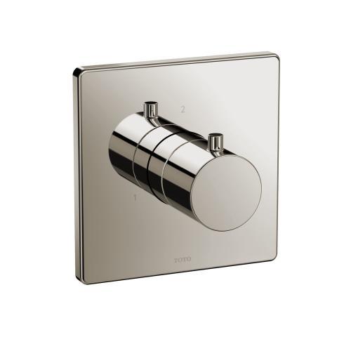 Two-way Diverter Trim - Square - Polished Nickel