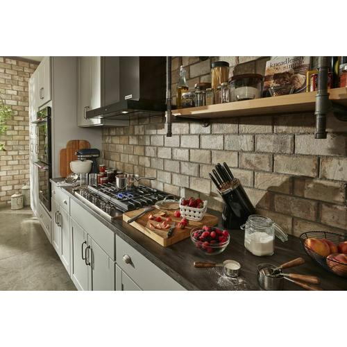 """KitchenAid - 30"""" Wall-Mount, 3-Speed Canopy Hood - Black Stainless Steel with PrintShield™ Finish"""