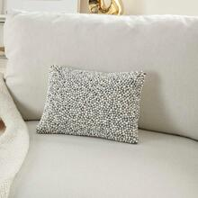 """Luminescence Z2001 Ivory/silver 10"""" X 14"""" Throw Pillow"""