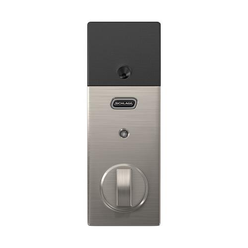 Schlage Connect Smart Deadbolt with alarm with Century trim, Z-wave enabled - Satin Nickel