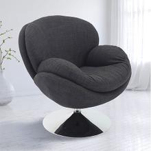 See Details - Scoop Leisure Accent Chair in Anthracite Fabric