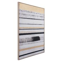 See Details - Vertical Brush Strokes Canvas Black & Gold