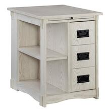 Mission Side Table Whitewash