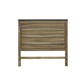 Queen Panel Headboard - Sepia/Sienna \u0026 Metal Finish