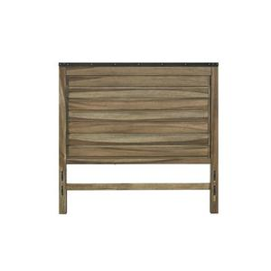King Panel Headboard - Sepia/Sienna \u0026 Metal Finish