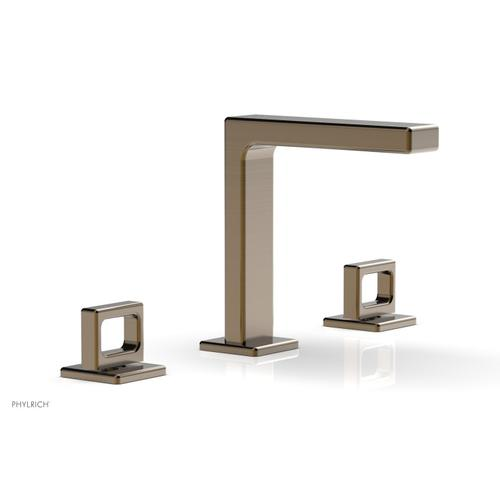 """MIX Widespread Faucet - Ring Handles 6-3/4"""" Height 290-03 - Antique Brass"""