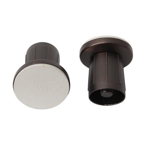 """1"""" Zinc Adjustable Shower Rod Flange - Oil Rubbed Bronze"""