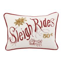 VE Sleigh Rides Red/Ivory 14x20