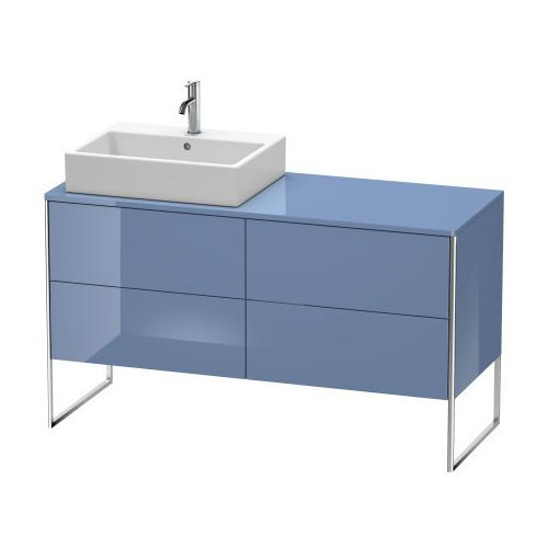 Product Image - Vanity Unit For Console Floorstanding, Stone Blue High Gloss (lacquer)