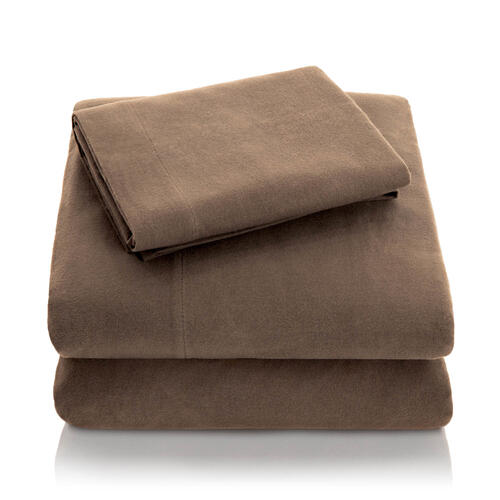 Portuguese Flannel King Pillowcase Coffee