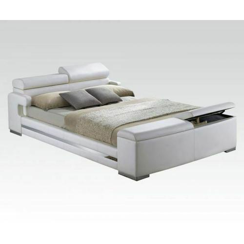 ACME Queen Bed w/Storage - 20680Q_KIT - White PU