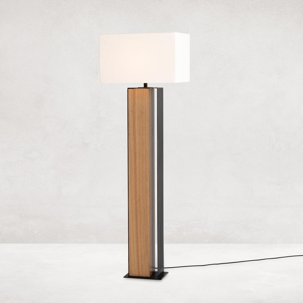 Trenton Floor Lamp-natural Oak