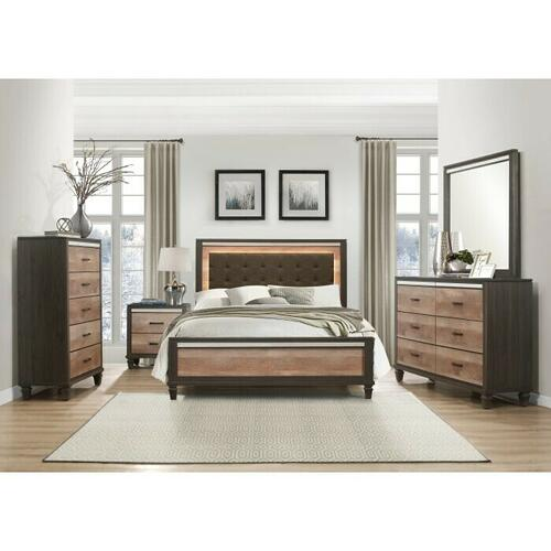 Homelegance - California King Bed with LED Lighting