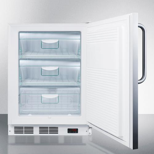 Commercial ADA Compliant Built-in Medical All-freezer Capable of -25 C Operation With Stainless Steel Exterior and Lock