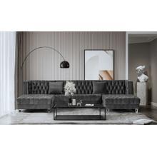 Divani Casa Ivar - Modern Grey 2 Chaise Sectional Sofa
