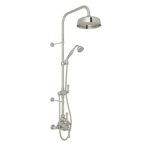 Polished Nickel GEORGIAN ERA THERMOSTATIC SHOWER PACKAGE with Georgian Era Solid Metal Lever