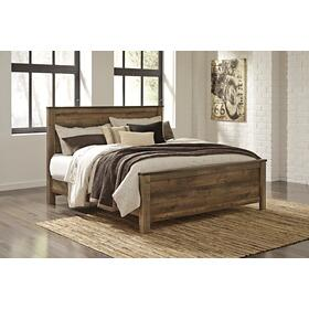 Trinell King Panel Bed Brown