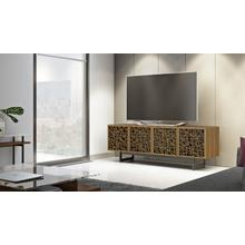 View Product - Elements 8779 Media Media Cabinet in Ricochet Doors Natural Walnut