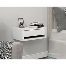 See Details - One Drawer Wall Mount Nightstand