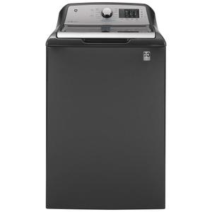 GE® 4.6 cu. ft. Capacity Washer with Sanitize w/Oxi and FlexDispense™ Product Image