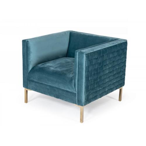 Gallery - Divani Casa Atwood - Modern Teal Arm Chair